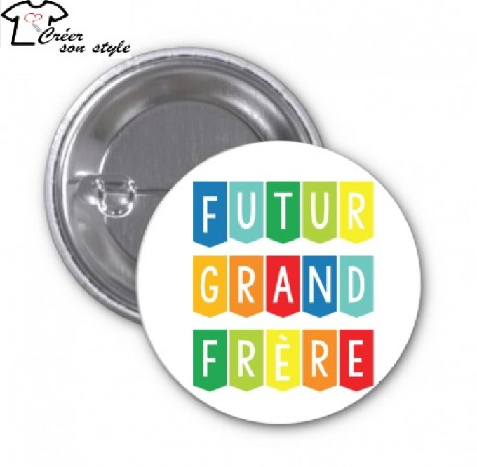 "Badge ""futur grand frère"""