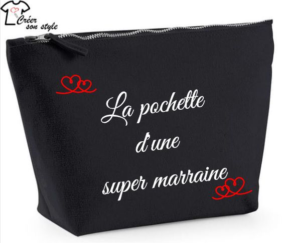 "Pochette ""d'une super marraine"""