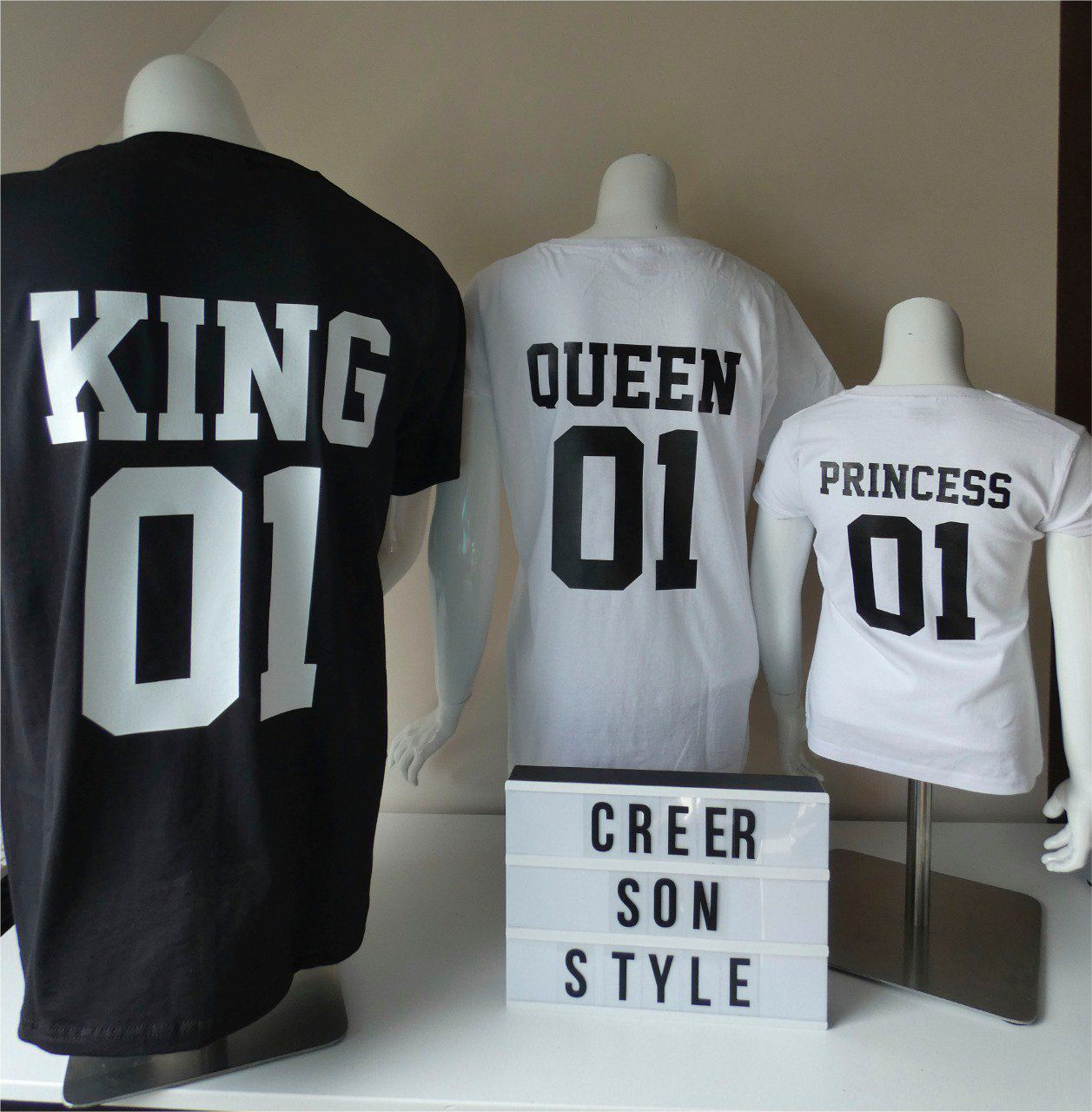 "Trio ""king,queen,princess"""