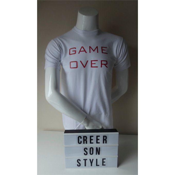 "tee shirt ""game over"""