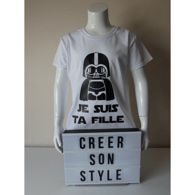 "tee shirt ""je suis ta fille"""