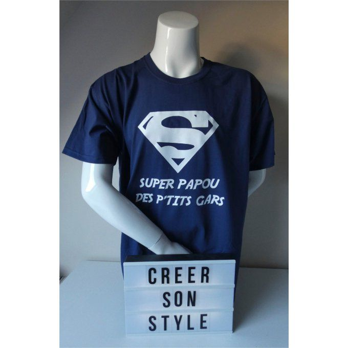 "tee shirt ""Super papy"""