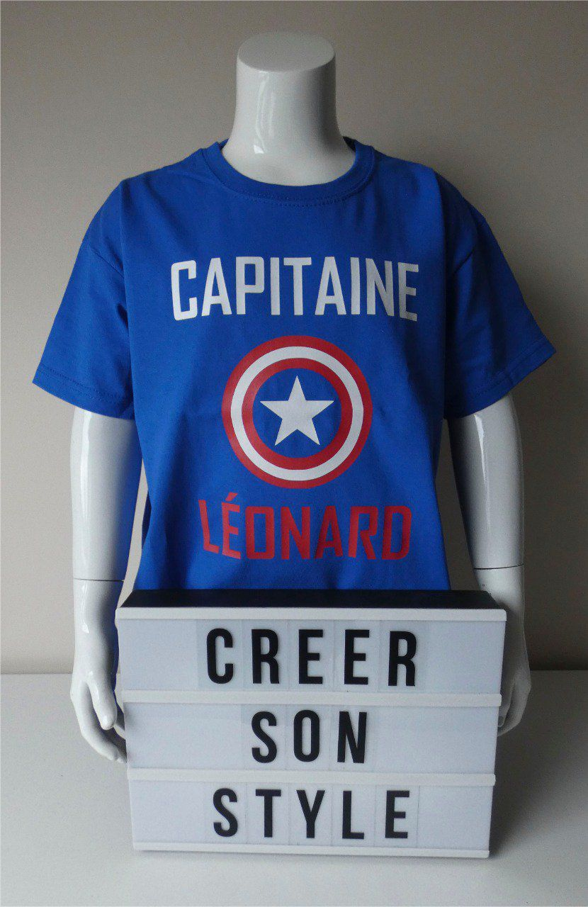 "tee shirt ""Capitaine America"""