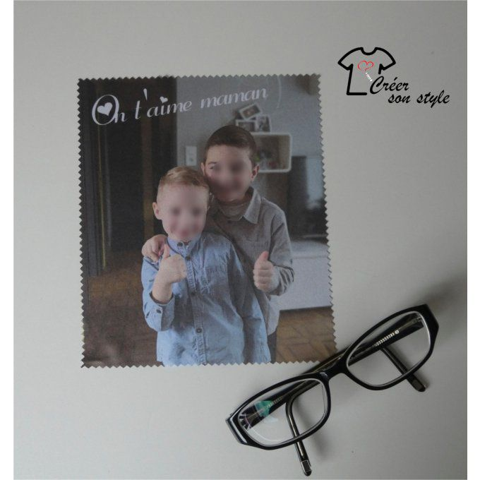 "essuie lunette ""On t'aime maman"""