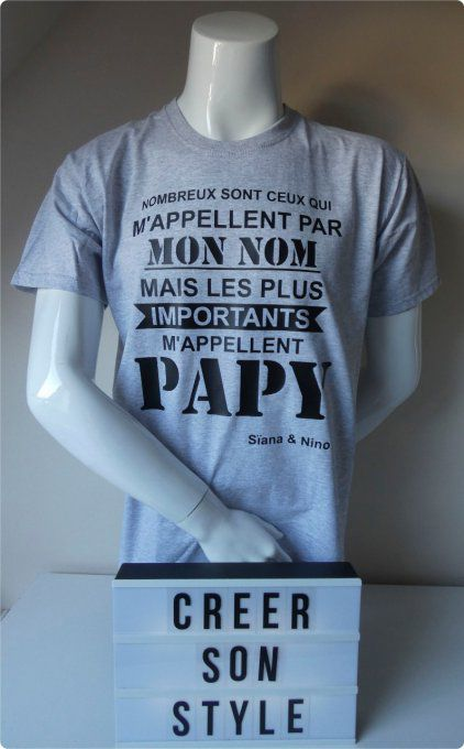 "tee shirt ""M'appellent papy"""