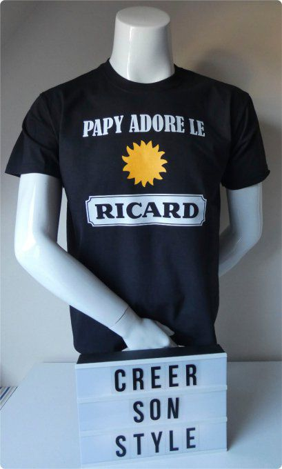 "tee shirt ""Papy adore le Ricard"""
