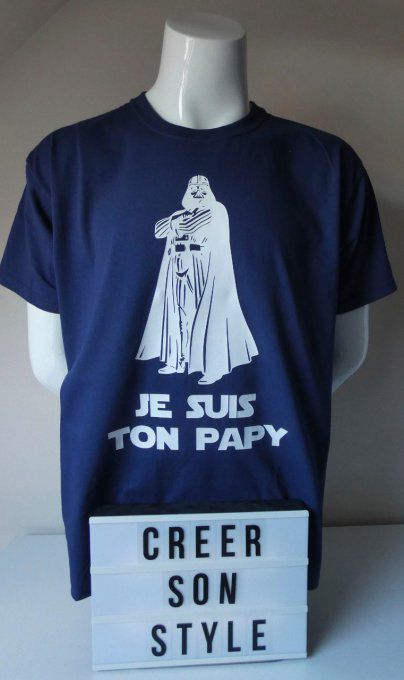 "tee shirt ""je suis ton papy"""