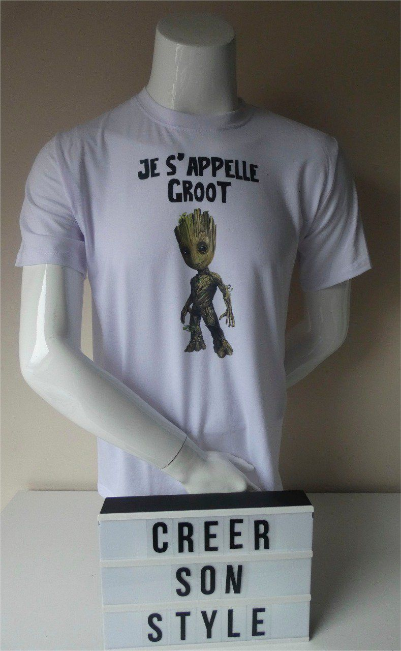 "Tee shirt homme ""je s'appelle groot"""