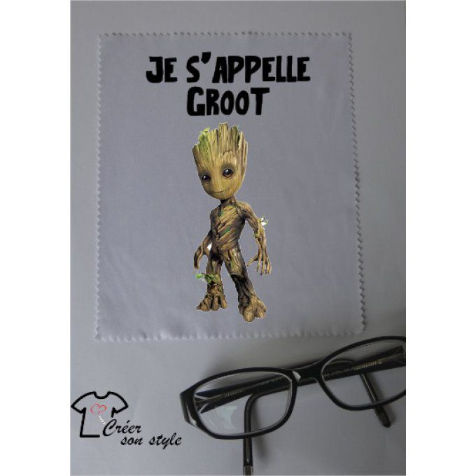 "essuie lunette ""je s'appelle groot"""