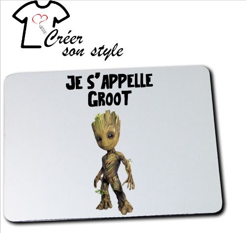 "Tapis de souris ""je s'appelle groot"""