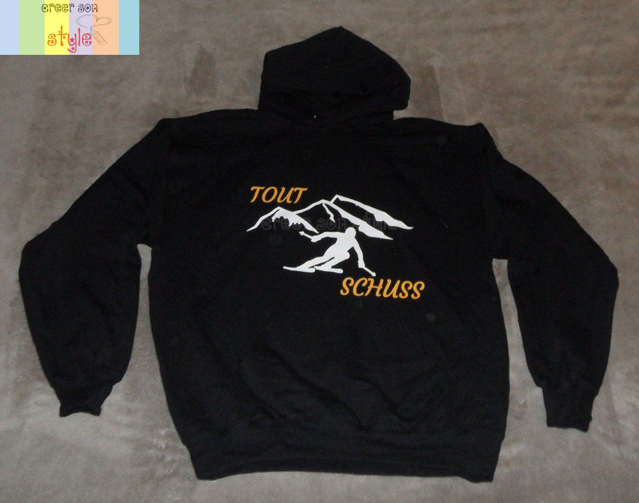 "Sweat-shirt ""Tout schuss"""